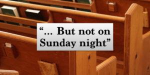 But not on Sunday night.001-1